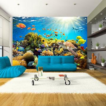 Fototapet autoadeziv - Underwater Land