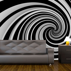 Fototapet - Black and white swirl