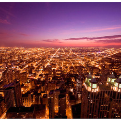 Fototapet - Chicago by night