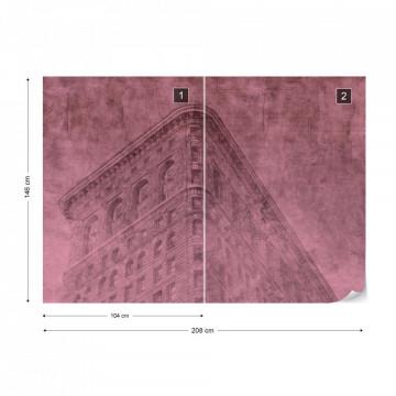 Fototapet - Clădire din New York – Efect Grafic Violet