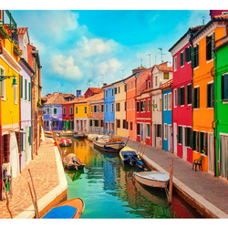 Fototapet -  Colorful Canal in Burano
