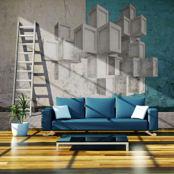 Fototapet - Concrete blocks