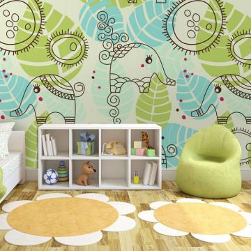 Fototapet - elephants (for children)