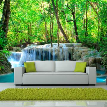 Fototapet - Erawan Falls, Kanchanaburi, Thailand