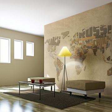Fototapet - Explorers' map of the World