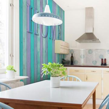 Fototapet - house (turquoise)