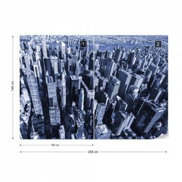 Fototapet - Jungla Urbană – Albastru