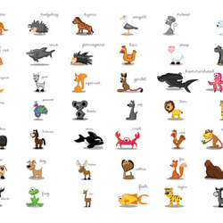 Fototapet - Learning by playing (animals)