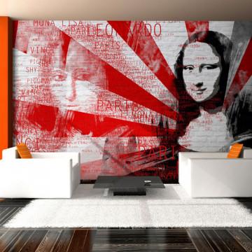 Fototapet - Modern collage with Mona Lisa motif