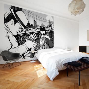 Fototapet - New York, music, jazz...