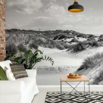 Fototapet - Paradis în Deșert – Alb-Negru
