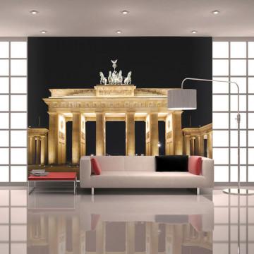 Fototapet - Pariser Platz with the Brandenburg Gate, Berlin