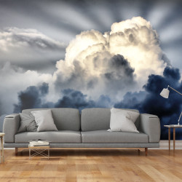 Fototapet - Rays in the sky
