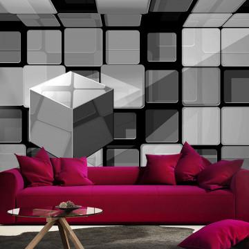 Fototapet - Rubik's cube in gray