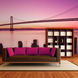 Fototapet - San Francisco Bay in violet, California