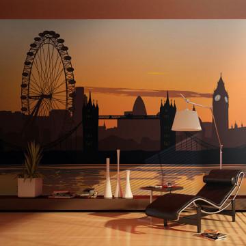 Fototapet - View on the London Eye