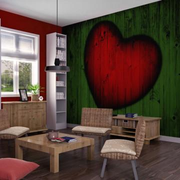 Fototapet - Wooden love