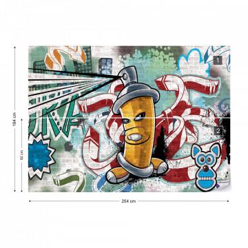 Graffiti Street Art Yellow Photo Wallpaper Wall Mural