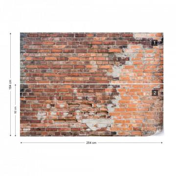 Grunge Brick - fototapet