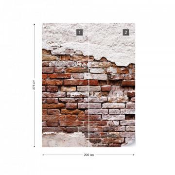Grunge Brick Wall Photo Wallpaper Wall Mural