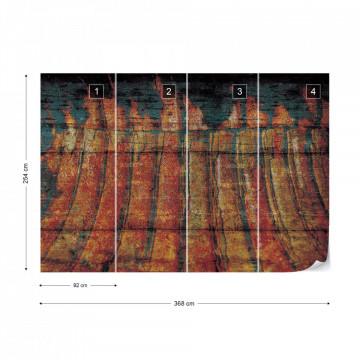 Grunge Wood Texture Photo Wallpaper Wall Mural