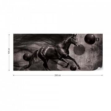 Horse 3D Photo Wallpaper Wall Mural