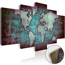 Imagine pe sticlă acrilică - Acrylic prints – Bronze map II