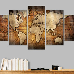 Imagine pe sticlă acrilică - Acrylic prints – Bronze map I