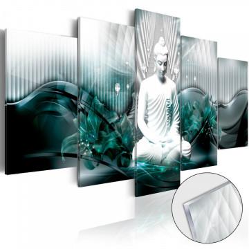Imagine pe sticlă acrilică - Azure Meditation [Glass]