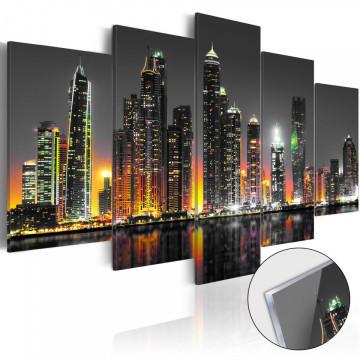 Imagine pe sticlă acrilică - Desertic City [Glass]