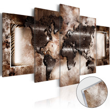 Imagine pe sticlă acrilică - Platinum Map [Glass]
