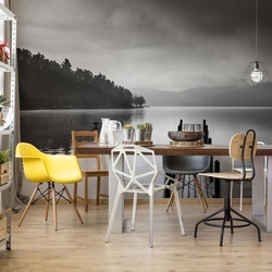 Lake View With Pier Photo Wallpaper Mural