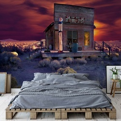 Late Night Shopping Photo Wallpaper Mural