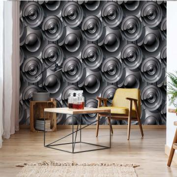 Modern Disc Pattern Photo Wallpaper Wall Mural