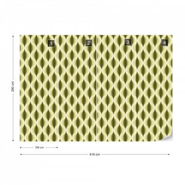 Modern Pattern Yellow Photo Wallpaper Wall Mural