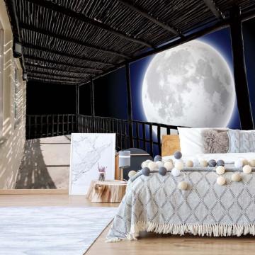 Moon Night Sky Terrace View Photo Wallpaper Wall Mural