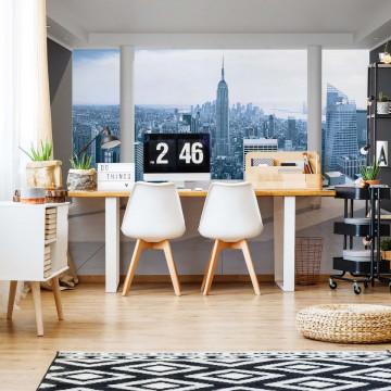 New York City Skyline 3D Penthouse View Photo Wallpaper Wall Mural