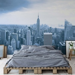 New York City Skyline Empire State Building Blue Photo Wallpaper Wall Mural
