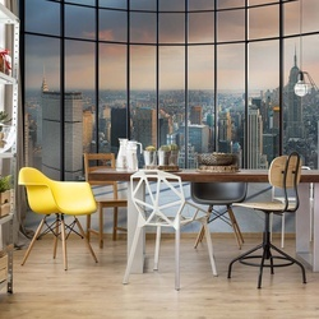 New York City Skyline Penthouse View Photo Wallpaper Wall Mural