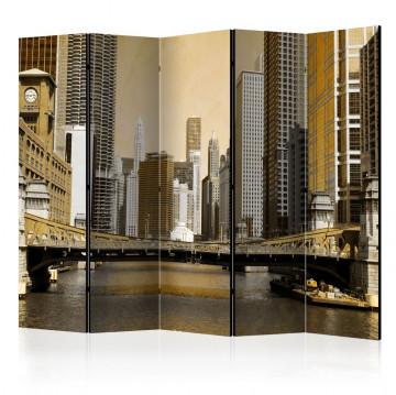 Paravan - Chicago's bridge (vintage effect) II [Room Dividers]