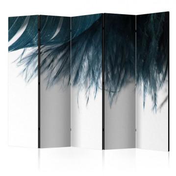 Paravan - Dark Blue Feather II [Room Dividers]