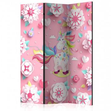 Paravan - Unicorn on Flowerbed [Room Dividers]