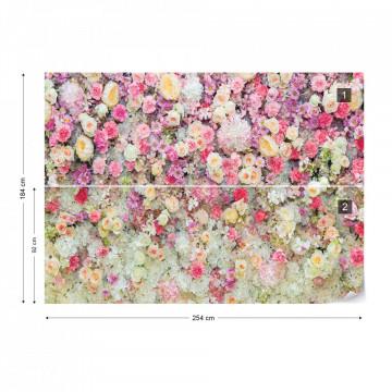 Pastel Flowers Photo Wallpaper Wall Mural
