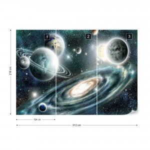 Planets In Space Photo Wallpaper Wall Mural