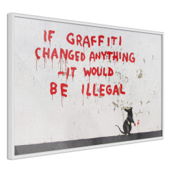 Poster - Banksy: If Graffiti Changed Anything