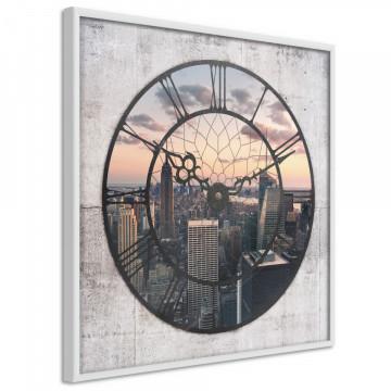 Poster - City Clock (Square)