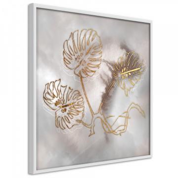 Poster - Golden Monstera Leaves