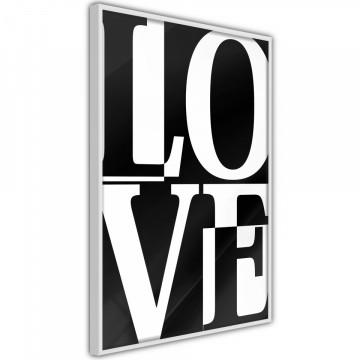 Poster - Love Chessboard