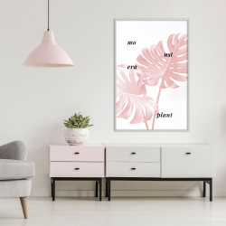 Poster - Pale Pink Monstera