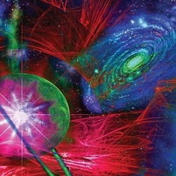 Pyschedelic Space Photo Wallpaper Wall Mural